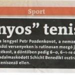 Rólunk - Teniszes bajnokunk
