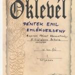 Péntek Emil emlékverseny
