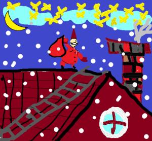 Mikulás rajz Bartal Molli4d